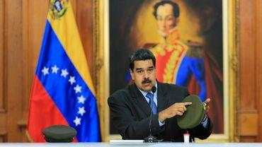 Le président du Venezuela, Nicolas Maduro, lors de son allocution télévisée, le 7 août 2018