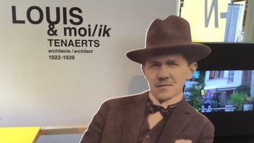 Louis Tenaerts et moi, aux Halles Saint-Géry.