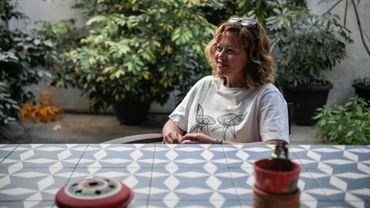 Romina Tsitou, propriétaire de deux logements à la location à Athènes s'entretient avec l'AFP, le 5 mai 2020