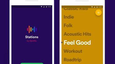 Spotify présente Stations, une application réservée aux playlists