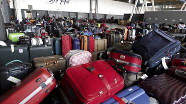 Valises à l'aéroport de Bruxelles-National