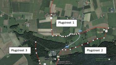 """Trois """"plugstreets"""" au parcours de Gand Wevelgem en commémoration de la Grande Guerre"""