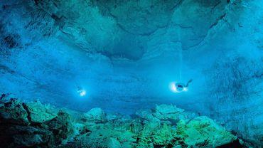 """Le site de Hoyo Negro fait partie de """"la plus grande grotte inondée au monde"""", longue de 347 kilomètres, et qui a été révélée le mois dernier."""