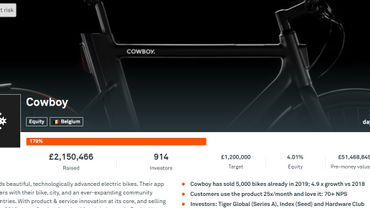La start-up Cowboy atteint son objectif de crowdfunding en... 12 minutes