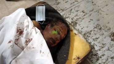 Le cadavre de Mouammr Kadhafi