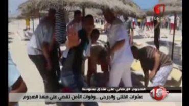 La plage de Sousse vendredi midi.
