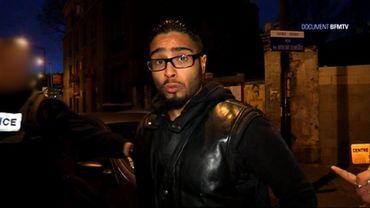 Jawad Bendaoud lors de son interview à BFM TV le 18 novembre 2015.