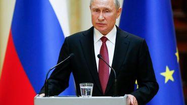 Le président russe Vladimir Poutine, le 21 août 2019 à Helsinki, en Finlande