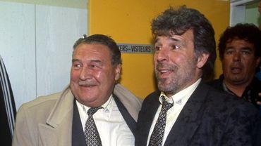 Fernand De Clerck ici aux côtés d'Eric Gerets en 1998