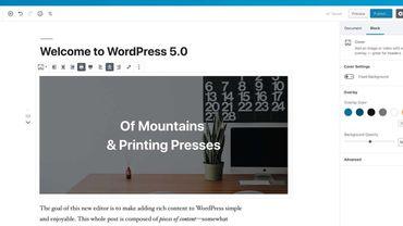Wordpress passe en version 5.0