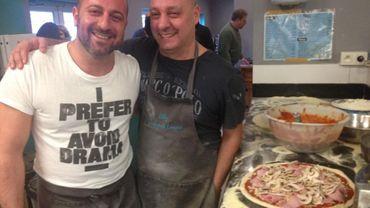 Fefe Caminiti et Michele Geraci le coeur sur la main et la main à la pâte