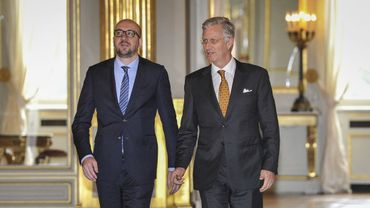 Le roi Philippe avec Charles Michel