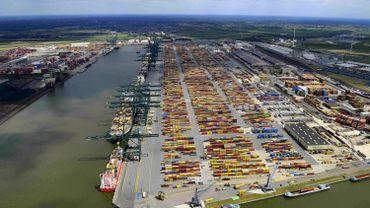 Le Delwaidedok du port d'Anvers.
