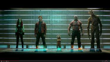 Peter Quill, alias Star Lord (2e en partant de la gauche) et sa bande de Gardiens de la Galaxie