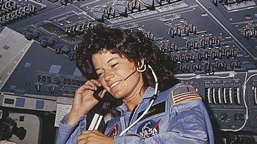 Sally Ride, première femme astronaute américaine, en 1983