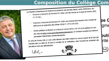 une réprimande et une amende administrative de 5000 Euros pour Philippe Godin