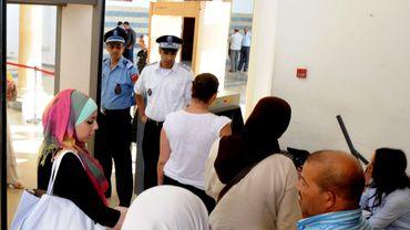 En 2012, des proches d'Ali Aarrass assistaient à une audience de son procès