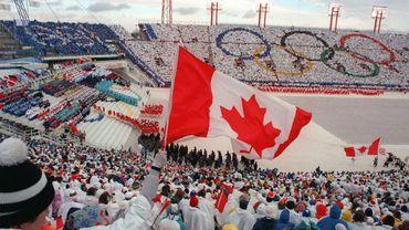 Cérémonie d'ouverture des JO de Calgary le 13 février 1988