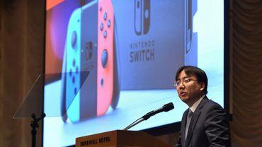 Le PDG de Nintendo Shuntaro Furukawa présente les résultats de l'entreprise, le 1er février 2019 à Tokyo