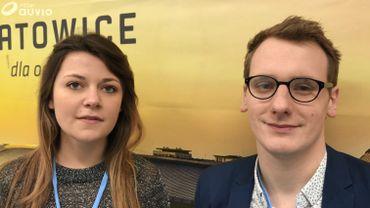 """Camille et Thibaut à la COP24 pour """"décrypter ce qu'il s'y passe et l'expliquer à la communauté étudiante"""""""