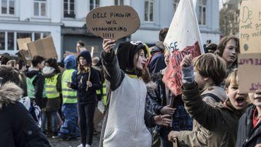 Manifestation pour le climat obligatoire dans certaines écoles flamandes