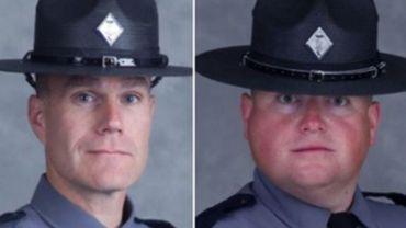 Le lieutenant H. Jay Cullen et le pilote Berke M.M. Bates décédés lors de l'accident d'hélicoptère.