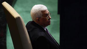 Le président palestinien Mahmoud Abbas y