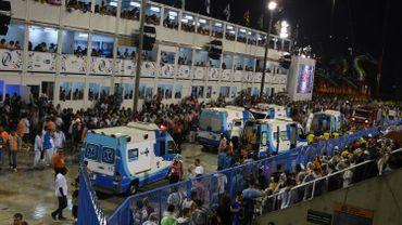 Des ambulances ont pris en charge les blessés