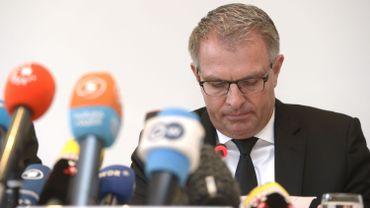 Le PDG de Lufthansa, Carsten Spohr lors de sa conférence de presse