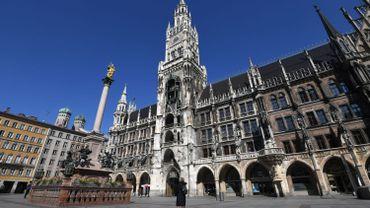 Grand'Place de Munich (Bavière), vide, en mars 2020