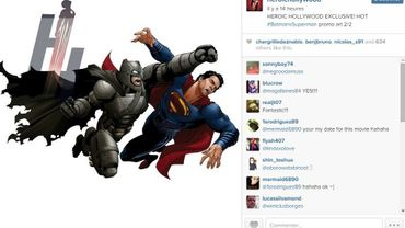 "Un des dessins du combat de ""Batman V Superman"""