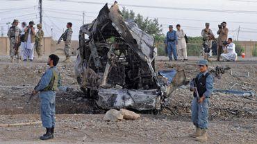 Illustration - La population civile afghane tombe quotidiennement sous les bombes des insurgés.