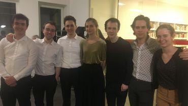 Le quatuor à cordes Desguin (à gauche) et le trio avec piano Aries sont les gagnants du Concours Supernova 2020
