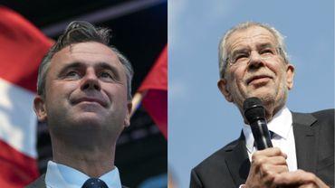 L'extrémiste Norbert Hofer (à gauche), est considéré comme favori. L'écologisteAlexander Van der Bellen (à droite) fait figure d'alternative anti-FPÖ.