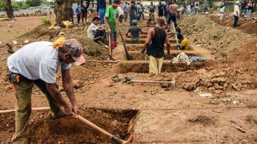 L'aspect de certains cimetières du Nicaragua, comme ici à Managua, laisse penser que le bilan du coronavirus dépasse largement les 46 décès rapportés par les autorités.