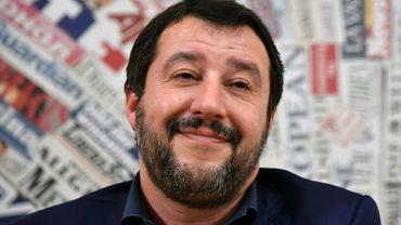 Le leader de la Ligue Matteo Salvini à Rome, le 14 mars 2018