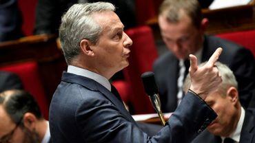 Le ministre des Finances Bruno Le Maire devant l'Assemblée nationale, le 12 décembre 2018
