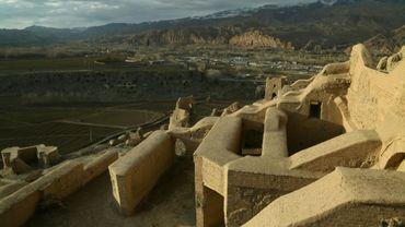 L'ancien site de deux Bouddhas détruits par les talibans, le 16 novembre 2019 à Bamiyan, en Afghanistan
