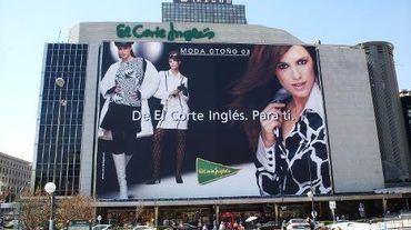Le grand magasin Corte Ingles à Madrid le 17 septembre 2003