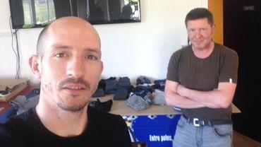 Franck Berrier se prête au jeu du selfie