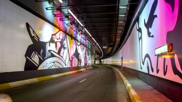 Les fresques dans le tunnel Porte de Hal