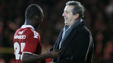 Football: Leekens et Benteke à Courtrai (en 2009)