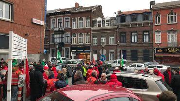 Rassemblement devant le CHU de Liège