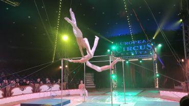 La troupe Zhuk, étoile d'or du 27e European Circus Festival