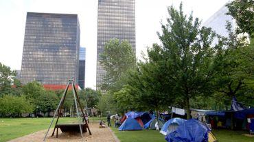 Des tentes de demandeurs d'asile en septembre 2010.