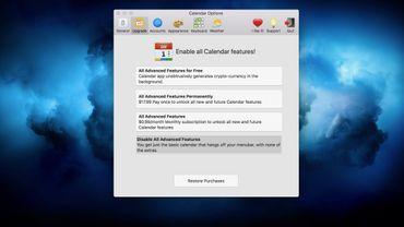 Calendar 2, l'application qui proposait le minage de cryptomonnaie comme option de paiement