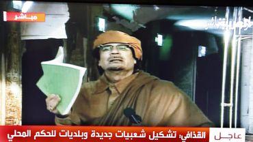 Mouammar Kadhafi à la télévision