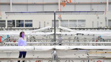 Présentation d'un Zephyr Airbus au salon de l'aéronautique de Farnborough (Royaume-Uni), le 17 juillet 2018