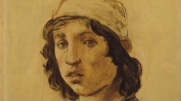 """Edouard Manet, """"Tête de jeune homme"""""""