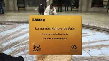 "Une ""sculpture itinérante"" de Patrice Lumumba dévoilée galerie Ravenstein"